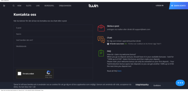 Twin Casino recension
