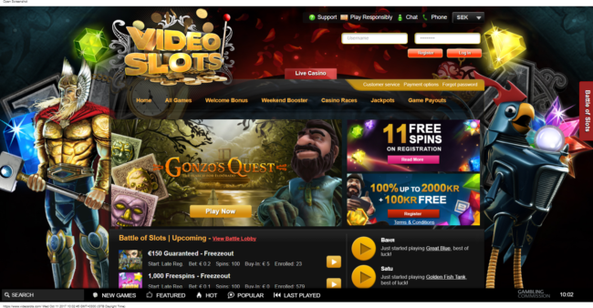 Videoslots Casino Recension