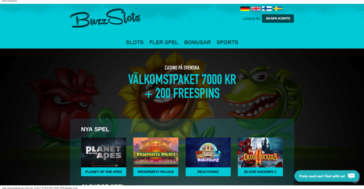 BuzzSlots Casino Recension