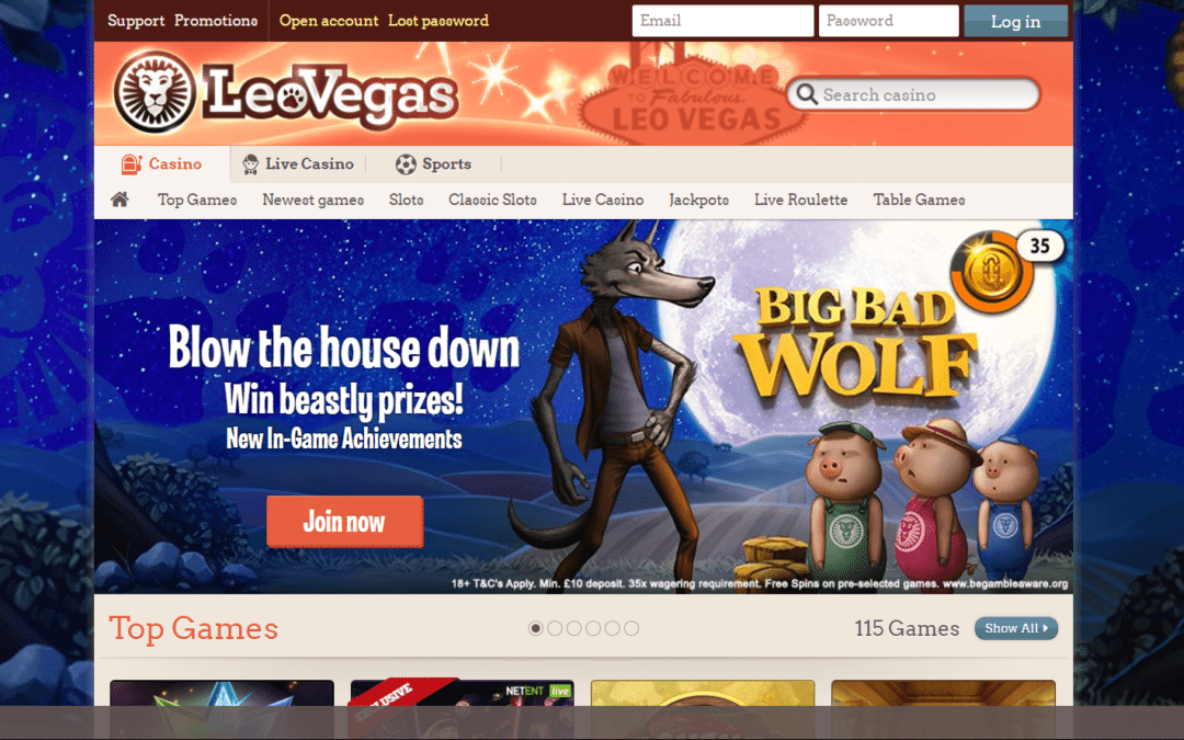 Leo Vegas Casino Recension