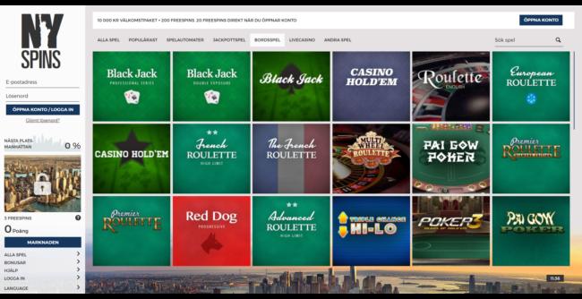 Nyspins Casino Spelautomater