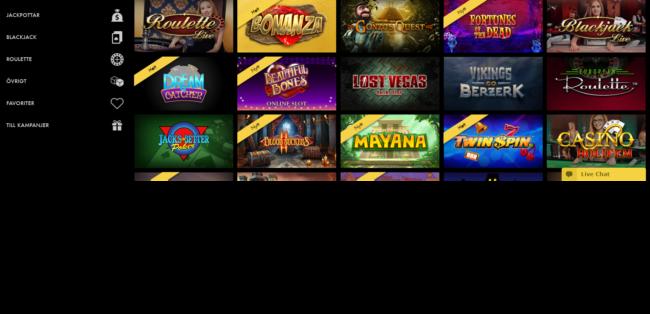 Bethard Casino Spelautomater