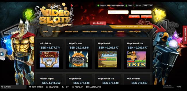 Videoslots Casino Jackpot