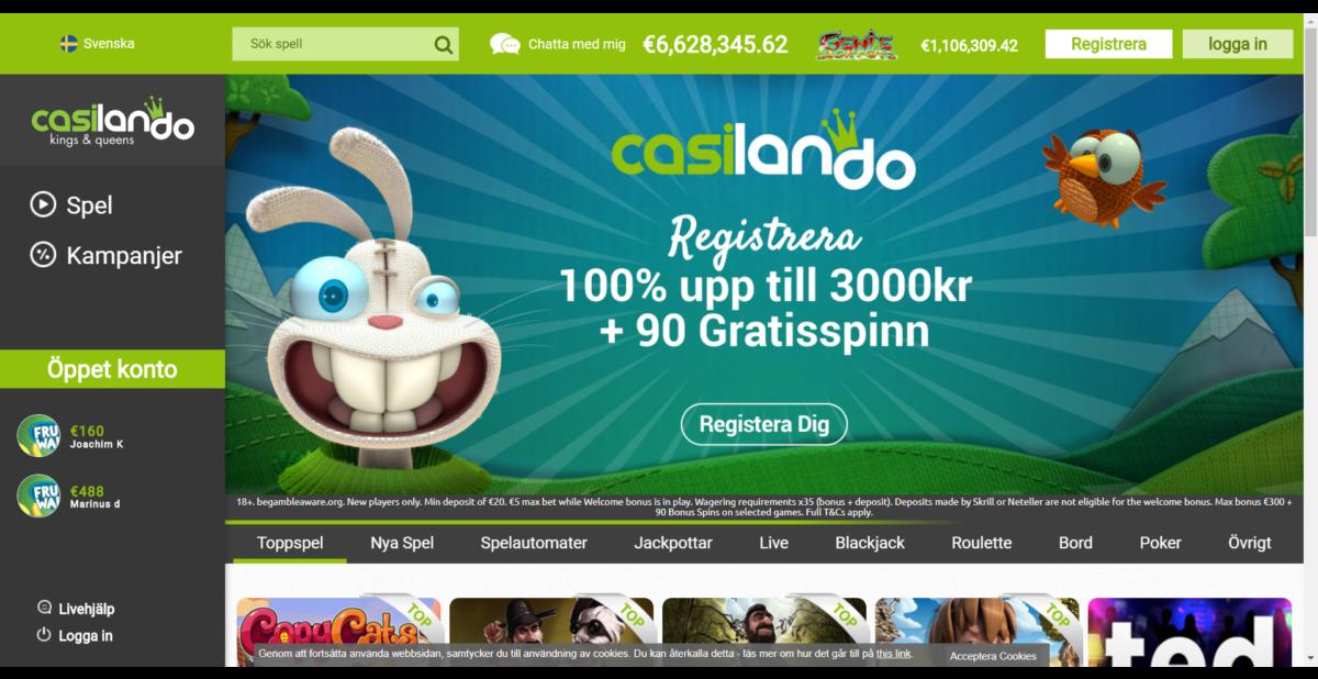 Casilando Casino Recension