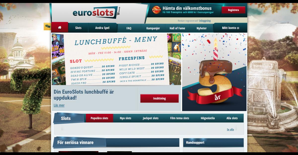 EuroSlots Casino Recension