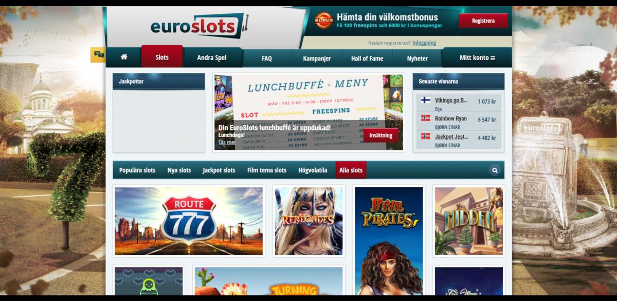 EuroSlots Casino Spelautomater