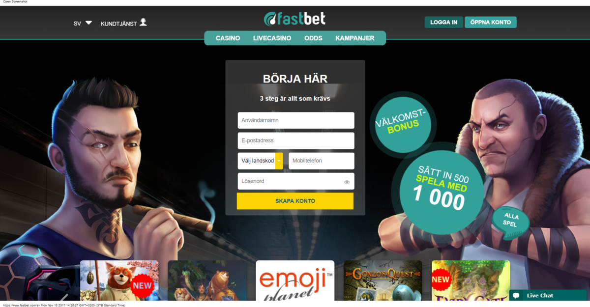 Fastbet Casino Recension