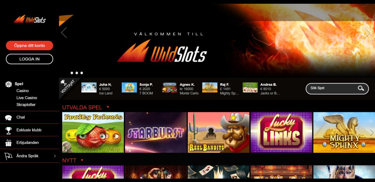 Wild Slots Casino Spelautomater
