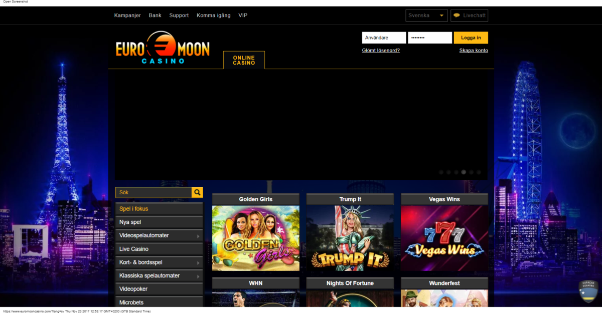 Euromoon Casino Recension
