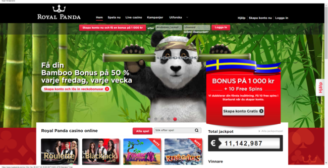 Royal Panda Casino Recension
