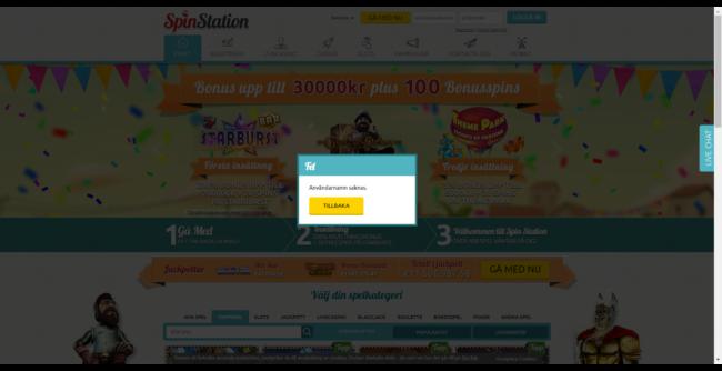 Spin Station Casino Spelautomater