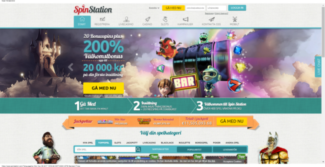 Spin Station Casino Recension