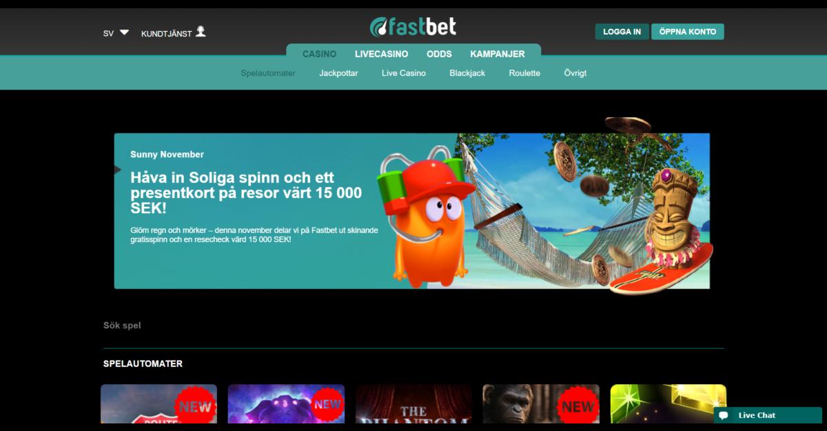 Fastbet Casino Spelautomater